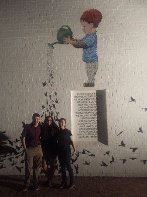 """YAA donated to finalize funding for """"The Garden"""" mural at the MonOrchid building in downtown Phoenix."""