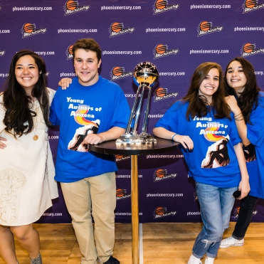 Phoenix Mercury guests for Teen & Writing Night.